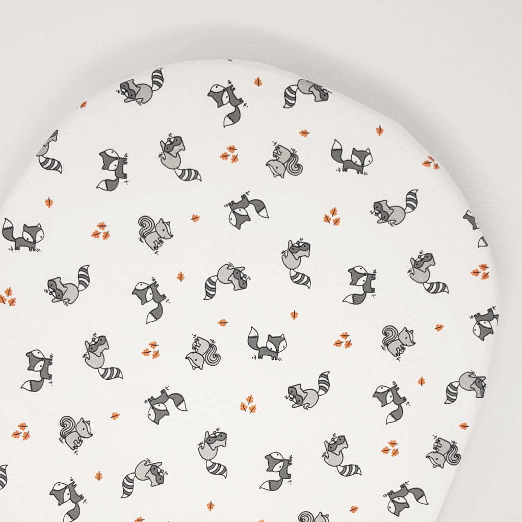 little acorn | Moses Basket Woodland Animals Cot Fitted Sheet