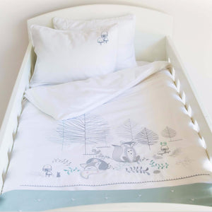oodlands Egyptian Cotton Duvet Cover Set - duck egg