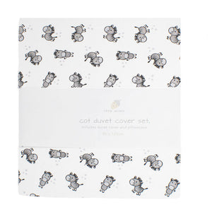 little acorn | Zebra Cot Duvet Cover Set