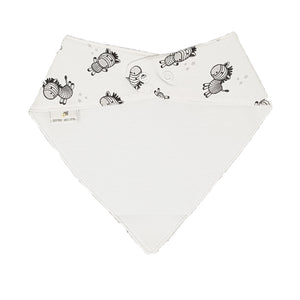 little acorn | Waterproof Zany Zebra Bandana Dribble Bib