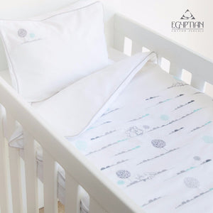 Bunny Hop Egyptian Cotton Baby Duvet Cover Set side