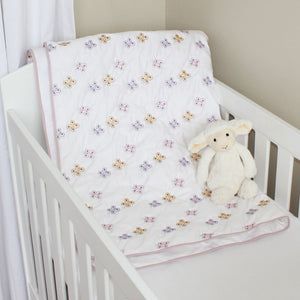 Butterflies Cotton Quilt/Playmat in cot