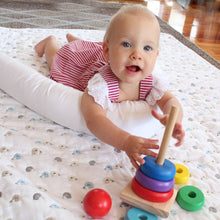 Cordless Wool Cot Bumper Inner tummy time