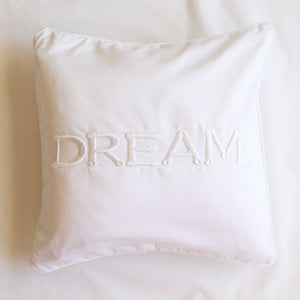 Dream Scatter Cushion (white) - Babes & Kids Cot Baby Bedding
