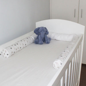 Embroidered Pink Baby Birds Cordless Cot Bumper Cover (cover only)