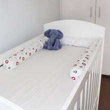 Sail Away Cot Bumper Cover - Babes & Kids Cot Baby Bedding