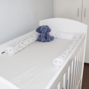 Snowflake Cot Bumper Cover - Babes & Kids Cot Baby Bedding