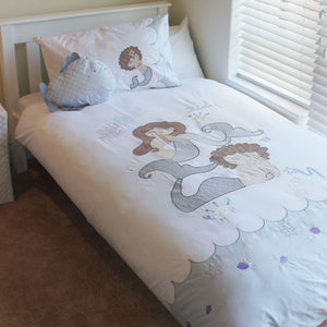 Mermaids Kids Duvet Cover Set (100% Cotton Percale) - Babes & Kids Cot Baby Bedding
