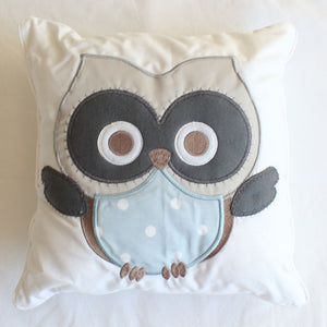 Baby Owl Scatter Cushion (blue) original
