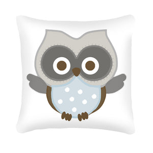 Baby Owl Scatter Cushion (blue) design