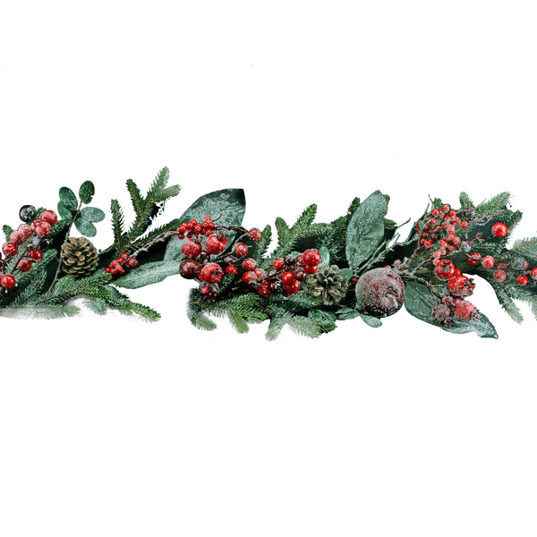 Gisela Graham Frosted Berry & Fir Garland