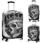 3D Black & White Skull King Design Luggage Covers