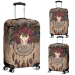 3D Deer Skull Dreamcatcher Luggage Cover