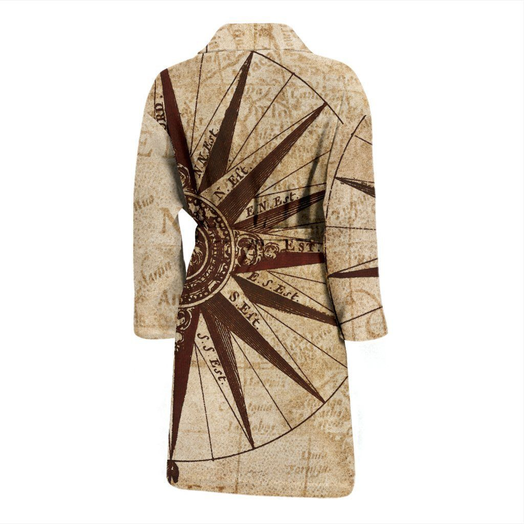 Bath Robe - Antique Map Bath Robe For Men And Women