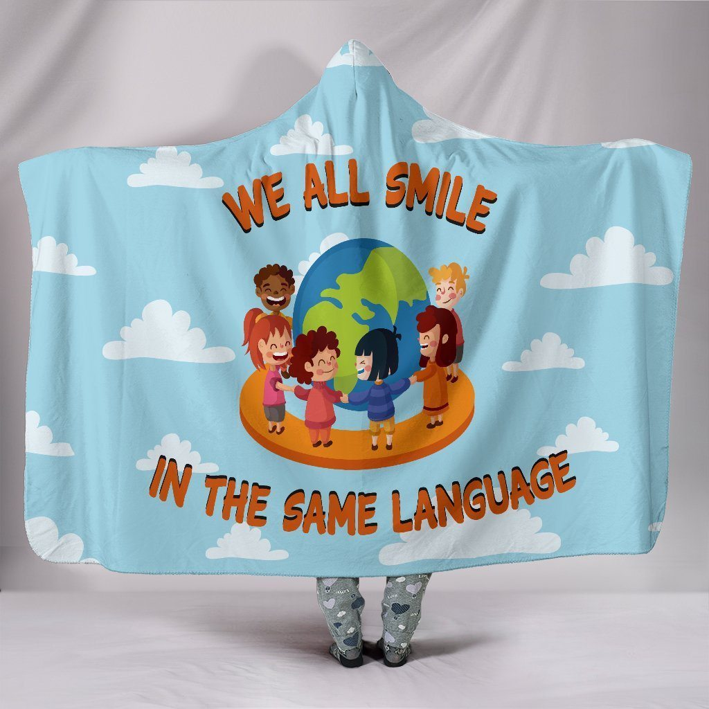Hooded Blanket - We All Smile In The Same Language