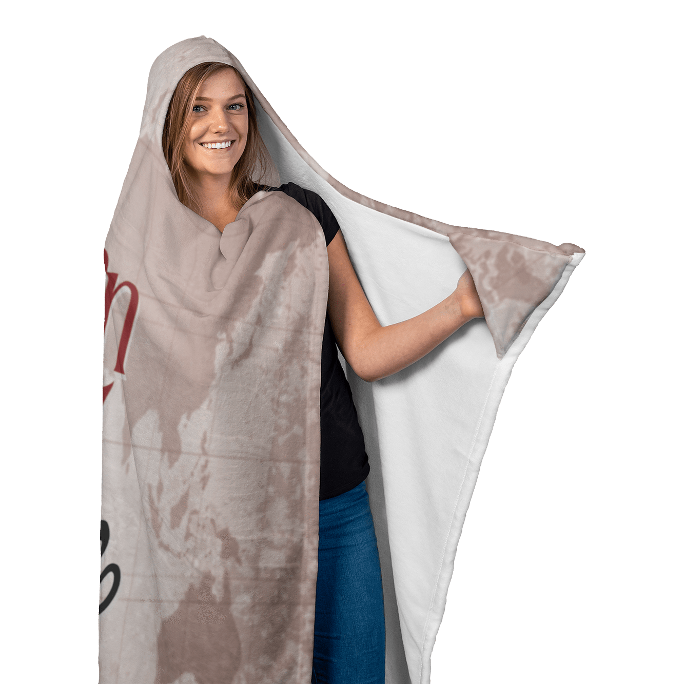 Hooded Blanket with Mittens - Born to Explore