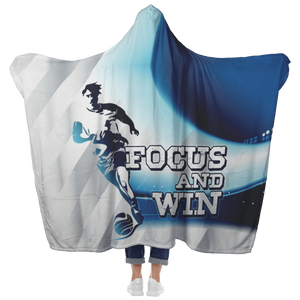 Hooded Blanket with Mittens - Focus and Win
