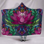 Lotus Flower Hooded Blanket