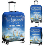 Luggage Cover- All You Need Is A Passport Not Love