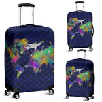 Luxury World Travel Luggage Cover