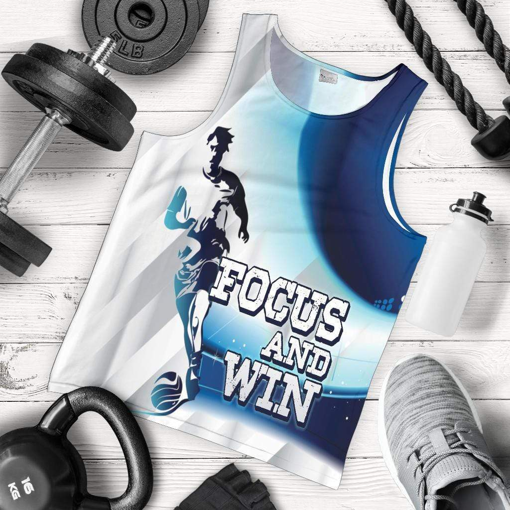 Men's Tank Top - Focus and Win