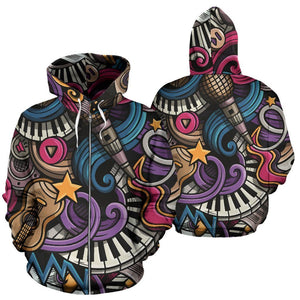 Music Zip-Up Hoodie