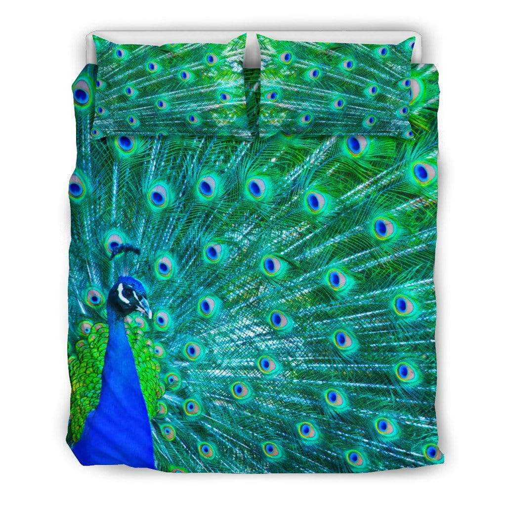 Peacock Print Colorful Bedding Set