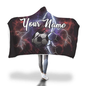 Personalised Hooded Blanket for Soccer Players