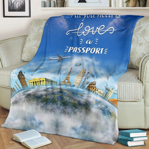 Premium Blanket - All I Need Is A Passport