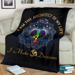 om sign throw blanket