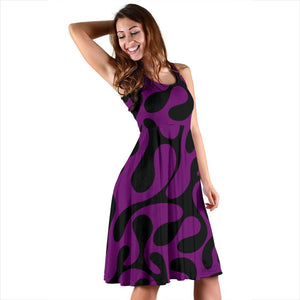 Purple And Black Are Back Women's Dress