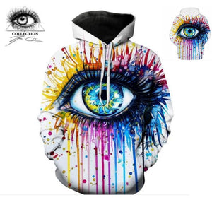 Rainbow Eye Hoodie By Pixie Cold Art (LMS041)