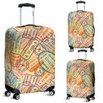 Travel Stamps Luggage Cover