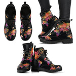 Wanderlust Map Women's Leather Boots