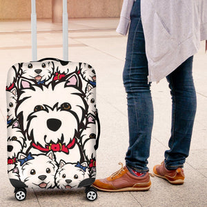Westie Luggage Covers