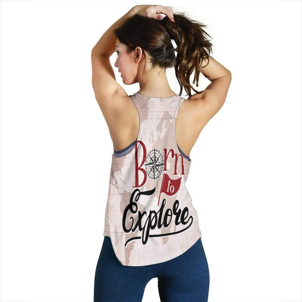 Women's Racerback Tank - Born To Explore