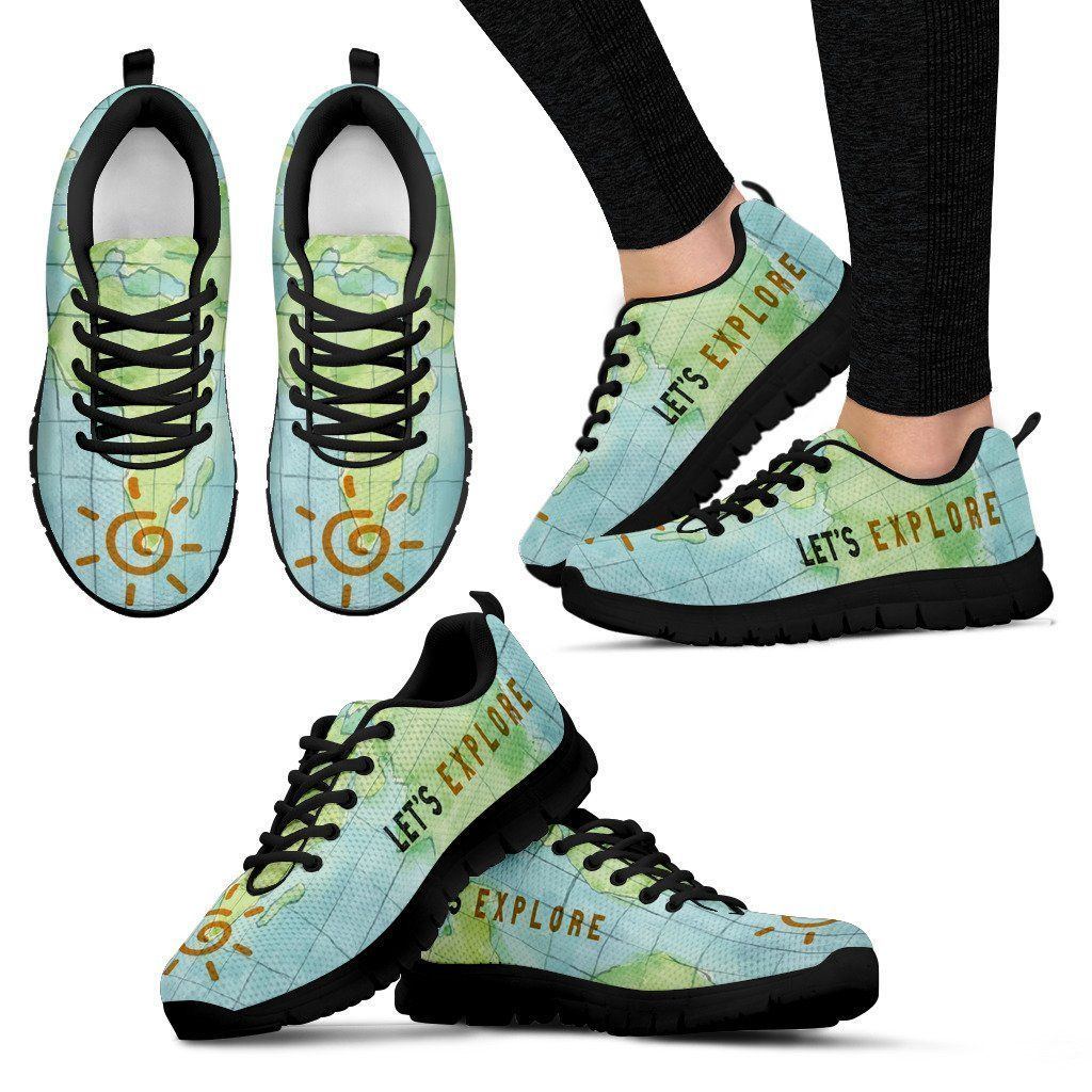Women's Sneakers - Let's Explore - Black Sole