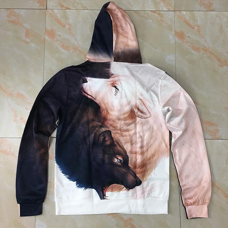Yin And Yang Wolves Hoodie By JoJoesArt