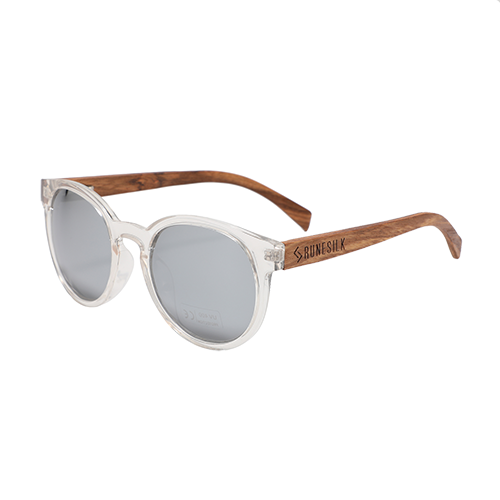 Parker Silver | Polarised Wooden Sunglasses by RUNESILK