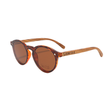 Load image into Gallery viewer, Modern Parker Tortoiseshell | Polarised Wooden Sunglasses by RUNESILK