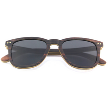 Load image into Gallery viewer, Dark Kent | Ebony and Bamboo Polarised Sunglasses | RUNESILK