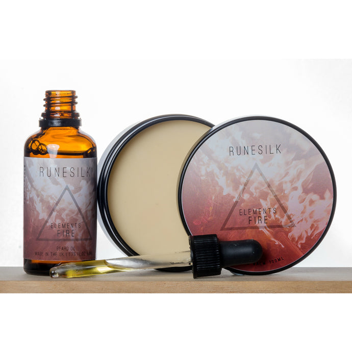 Elements Fire Beard Oil and Balm Combo