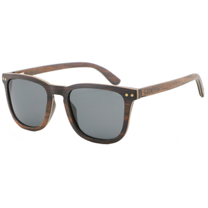 Dark Kent | Ebony and Bamboo Polarised Sunglasses | RUNESILK