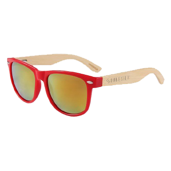 Red Bamboo Sunglasses by RUNESILK