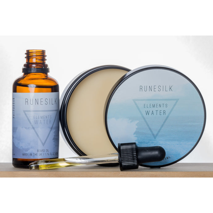 Elements Water Beard Oil and Balm Combo