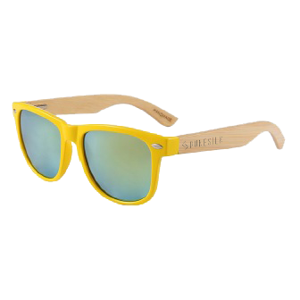 Yellow Bamboo Sunglasses by RUNESILK