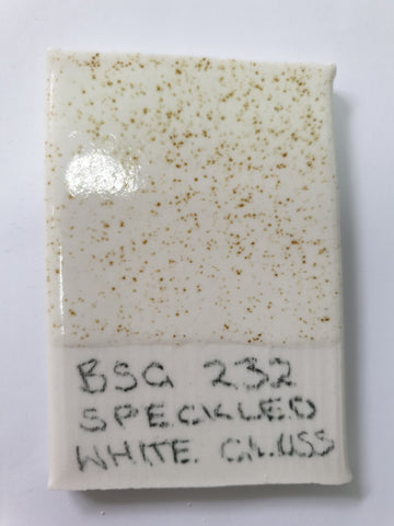 BSG232 Speckled White Gloss (Stoneware Brush On Glaze)