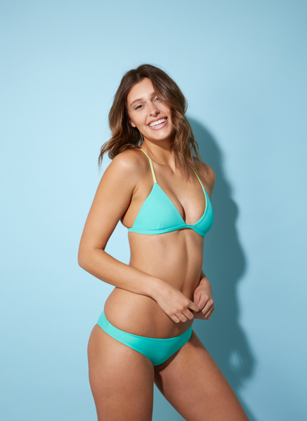 Pinch Me Bralette: Mint