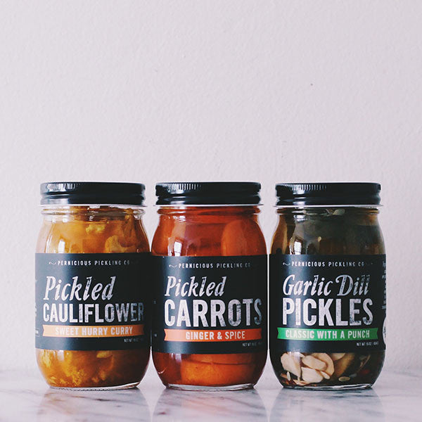 Pernicious Pickling Co. Pickle Trio