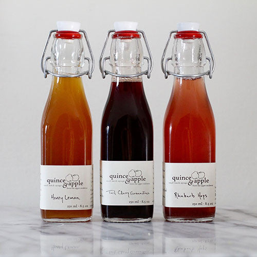 Quince & Apple Cocktail Syrup Trio